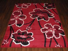Modern Approx 6x4ft 115x165cm Woven Backed  Rugs Sale Top Quality Red/Black New